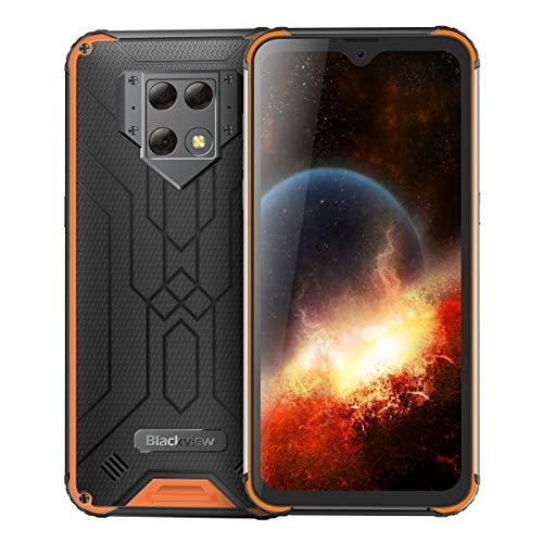 Blackview BV9800 6GB 128GB IP68強化スマートフォン6.3インチFHD +水滴Helio P70 Octa Core Android 9.0携帯電話NFC 6580mAh (オレンジ色)