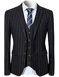 YFFUSHI スーツ メンス スリーピース 1つボタン 2つボタン XS-5XL ストライプ チェック 長袖 全10色 着心地抜群 通気性良い カジュアル スリム 高品質 四季 ファッション 大きいサイズ