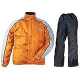 レディース スーツ ラフアンドロード(ROUGH&ROAD) バイク用デュアルテックスコンパクトレインスーツ オレンジ LD(レディース) RR5232