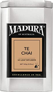 Madura Te Chai 40 Leaf Infusers in Tea Caddy, 1 x 100 g