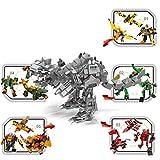 Opino 恐竜ビルディングブロック 1個/5個/セット 楽しいジュラシック恐竜模型組み立て組み立てブロック 教育玩具 キッズギフト (3種類) 01-05 マルチカラー 4476