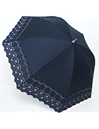 日本製 高級傘 純パラソル 日傘 上品な 綿サテン 3インチ エンブ 車輪柄 47cm ショート傘