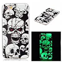 Galaxy S7 Edge CaseFusicase Super Funny Colorful Skeleton Pattern Colored Drawing Noctilucence Shell Night Light Ultra Thin Soft TPU Glow In The Dark Case Cover For Samsung Galaxy S7 Edge(Skull) [並行輸入品]