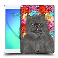 Head Case Designs ペルジャン・キャット ペット&フローラル Samsung Galaxy Tab A 9.7 専用ハードバックケース