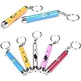 Pet Cat Dog Fun Laser Pointer Lazer Light Pointer LED Training Torch Pen (Silver)