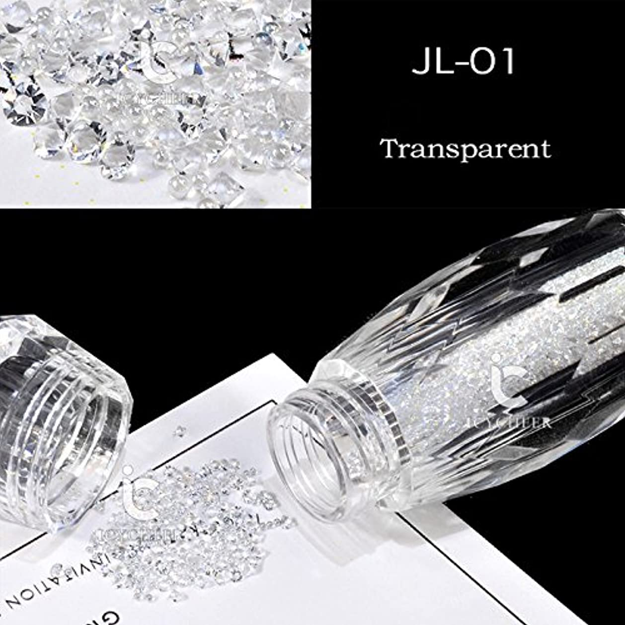 周術期腹ブラジャーICYCHEERネイルグリッターABクリスタルガラスマイクロネイルアート眩しいキャビアビーズ3Dピクシーマーメイドネイルのヒントマニキュアデコレーション (JL01)