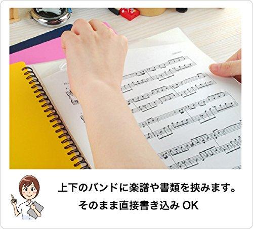 楽譜ファイル 30ポケット A4 60ページ FILE PLUS + DO NAVY  ネイビー