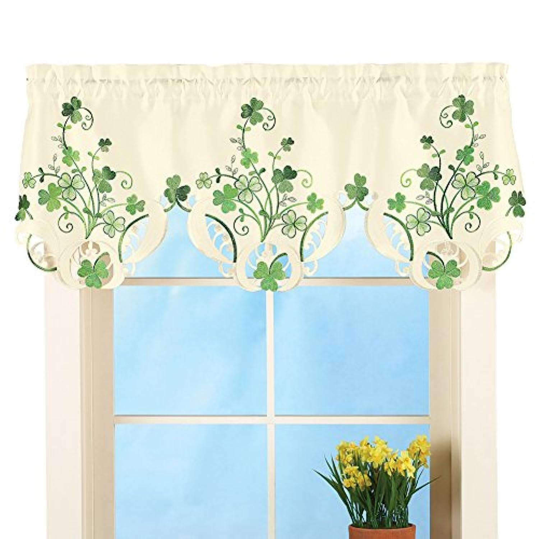 St. Patrick's Day Shamrock Embroidered Window Valance Decoration