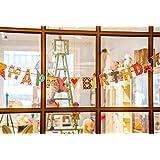 【ELEEJE】 HAPPY BIRTHDAY ガーランド & 音楽 付き バースデー カード セット 誕生日 パーティー 飾り付け ギフト ( 4種類 ) (ヒゲのおじさん)