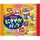 亀田製菓 亀田のにぎやかパック 180g (ぽたぽた焼、手塩屋、亀田のまがりせんべい、ソフトサラダ)