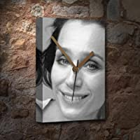 KRISTIN SCOTT THOMAS - キャンバス時計(LARGE A3 - アーティストによる署名入り) #js005