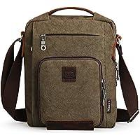 muzee Small Canvas Messenger Bag for Men Vintage crossbady Bag Travel daypack Satchel Bag fits ipad