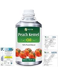 Peach Kernel (Prunus persica) Natural Pure Undiluted Uncut Carrier Oil 5000ml/169 fl.oz.