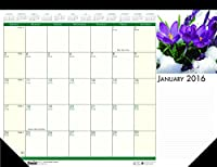 House of Doolittle 2016 Monthly Desk Pad Calendar Earthscapes Flowers 22x17 (HOD159-16) [並行輸入品]