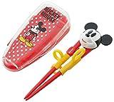 スケーター  DX トレーニング箸 14cm ケース付 ミッキーマウス ディズニー 練習箸 子供用 ADXT1S