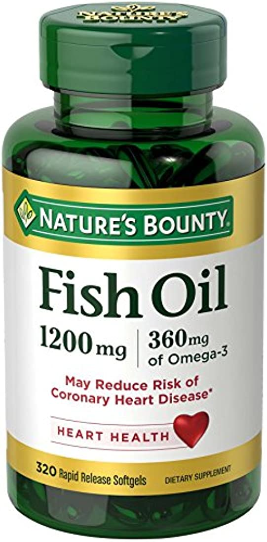 障害母性すばらしいですNature's Bounty Fish Oil 1200 mg, 320 Softgels 海外直送品