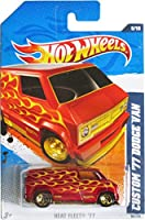 2011 Hot Wheels Custom '77 Dodge Van Red #96/244