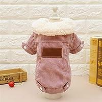 小型犬のための古典的な冬のペット服は暖かい厚く by QingYangMate (Color : ピンク, サイズ : XL)