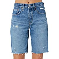 Levi's Women's 501 Knee Length Short Cotton Fitted Blue