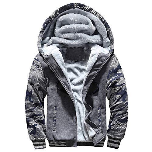 コート メンズ Hodareyメンズ ジャケットトップス パーカー コートファッションメンズ 冬服プラスベルベットカモフラージュスポーツウェア大サイズスリム 暖かいジャケット長袖 おしゃれ メンズ ジャケット 通勤 普段着 日常用 大きいサイズ#58