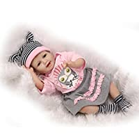 NPKDOLL Reborn Baby Doll Soft Simulation Silicone Vinyl 22inch 55cm Lifelike Vivid Boy Girl Toy Smill Princess Owl