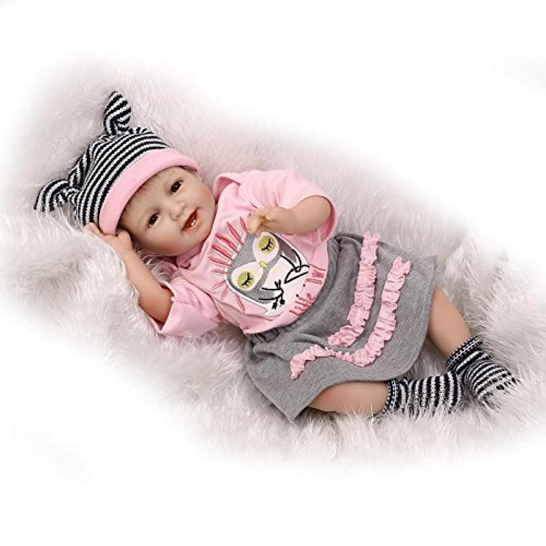 NPKDOLL Reborn Baby Doll Soft Simulation Silicone Vinyl 22inch 55cm Lifelike Vivid Boy Girl Toy Smill Princess Owl