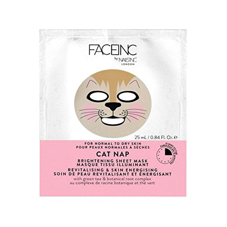 山岳戻るくしゃくしゃNails Inc. Face Inc Cat Nap Mask (Pack of 6) - 爪が株式会社顔猫の昼寝用マスク x6 [並行輸入品]