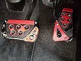 【ミニウエス付】 汎用 ペダルカバー レッド 挟み込みタイプ 加工不要 穴あけ不要 簡単取り付け カスタム ペダル カバー 赤 フォーミュラースペック GT ノンスリップペダル スポーツ