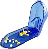 wumio ピルカッター 保証・説明書付き 切りやすさを追求 動くツマミでしっかり固定 簡単操作で錠剤・薬・タブレットを2分割する錠剤カッター