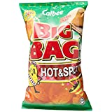 Calbee Big Bag Potato Chips, Hot & Spicy, 180g