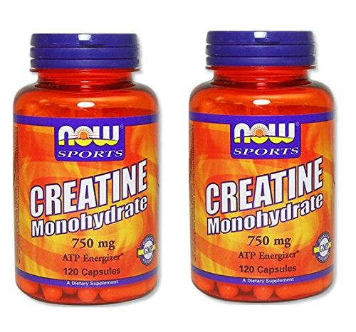2本セット 海外直送品 Now Foods Creatine Monohydrate, 120 Caps 750 mg