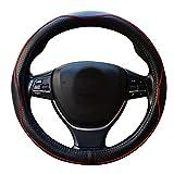 ZATOOTO車用 ハンドルカバー 高品質ステアリングホイールカバー 本革素材 四季汎用 LY98-HH