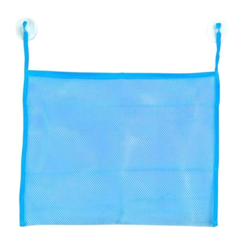 ブルーbaby-bath-bathtub-toy-mesh-net-storage-bag-organizer-holder-bathroom-organiser