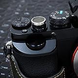 LIM'S デジタルカメラ用 本革ソフトシャッターボタン カーキー (貼付タイプ)