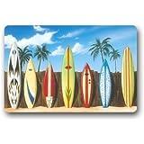 Mr. Six Beach Surfboard Indoor/Outdoor Doormat Door Mat Machine-washable Floor/Bath Decor Mats Rug