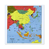 Map Political Cia 2004 East Asia Historic Replica Large Wall Art Poster Print Thick Paper 24X24 Inch 地図政治的な壁ポスター印刷