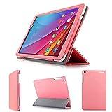 wisers 保護フィルム付 Huawei MediaPad T1 10 , ケイ・オプティコム eo光 eoスマートリンク Huawei MediaPad T1K 10.0 LTE (K-OPT仕様) 9.6インチ タブレット 専用 ケース カバー ピンク