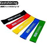 Eastshining エクササイズバンド フィットネスチューブ トレーニングチューブ インナーマッス 5本セット 筋力トレーニング ストレッチ ダイエット (5本セット)