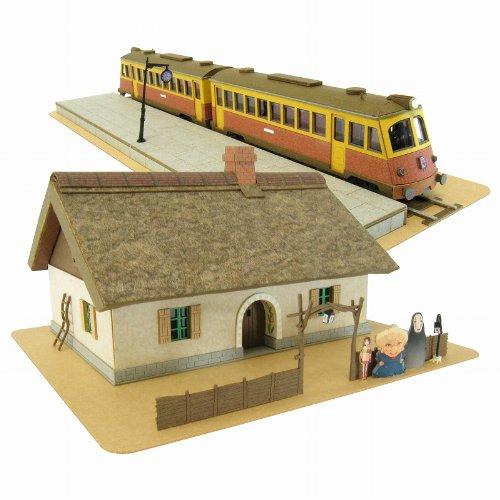 스튜디오 지브리 시리즈 센과 치히로의 행방불명 돈파의 집과 카이와라 전철 1/150스케일 종이공예 MK07-07-MK07-07 (2012-06-26)