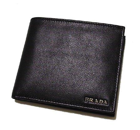 メンズ二つ折り財布 2M0738 (アウトレット品) プラダ