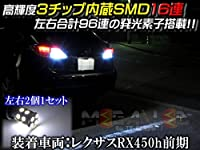 高輝度3chip内蔵 SMD16連(48連) LED バックランプ★Z12系 キューブ対応★発光色ホワイト【メガLED】
