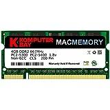 Komputerbay MACMEMORY Apple 4GB (単一 4GB) PC2-5300 667MHz DDR2 SODIMM iMac と Macbook メモリ