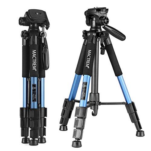 カメラ三脚 コンパクト三脚 Mactrem PT55 レバー式 4段 小型 軽量 3Way雲台 水準器 クイックシュー付き アルミ製 旅行 ビデオ三脚