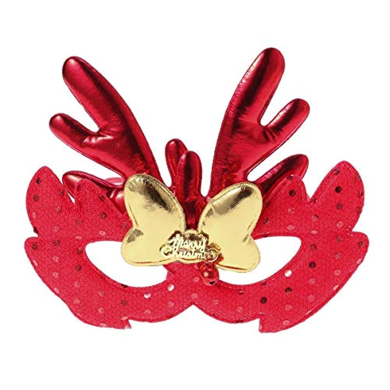 手伝うツーリスト虫を数えるBESTOYARD エルククリスマスコスチュームマスククロスマスクキッズアダルトコスプレクリスマスパーティー(レッド)