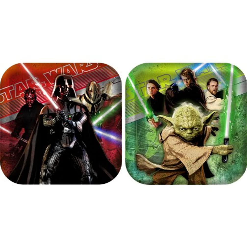 モートブラザー悲惨Star Wars Generations 3D Square Dinner Plates スターウォーズ世代3Dスクエアディナープレート?ハロウィン?クリスマス?
