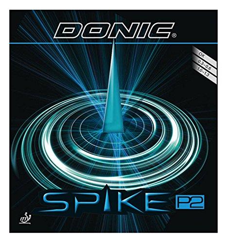 DONIC(ドニック) 卓球 スパイク P2 (塩野真人選手との共同開発商品)粒高ラバー レッド 0.3 AL074