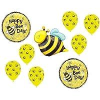 loonballoon Bumble Bee Day Bumblebee Buzz誕生日パーティー( 9 )マイラー&ラテックスバルーンセットB