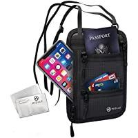 Neck Wallet - Passport Holder - RFID Travel Pouch - Anti Theft Waterproof Security Hidden Neck Bag for Men and Women