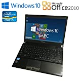 G・Wキャンペーン【新品無線マウスをプレゼント】 東芝PR732HAAP3BA71 【Microsoft Office2010/最新OS Win10搭載/第三世代Corei5(3340M)2.7GHz/メモリ4GB/HDD320GB/13.3インチ液晶/無線LAN/】中古ノートパソコン