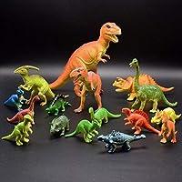 知育用恐竜玩具 子供用 17個パック - 本物そっくりのおもちゃ 恐竜の置物 クールな子供 幼児教育 (T-rex Triceratops Velociraptor など) パーティーの景品